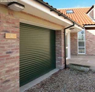 Black Insulated Roller Shutter Garage Doors