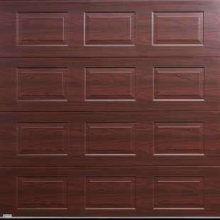 Gliderol Oxford Sectional Door - Rosewood Laminated