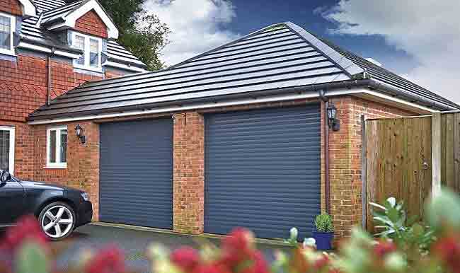 Seceuroglide Anthracite Double Garage Doors