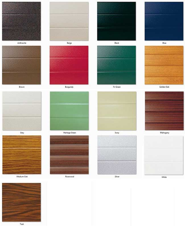 Metallic Car Paint Colors >> Seceuroglide Insulated Roller Door Colour Chart
