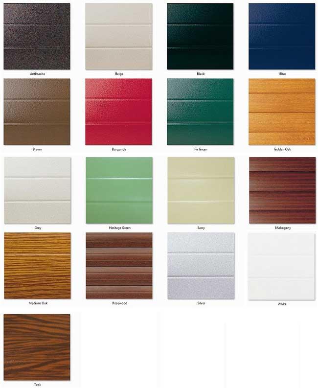 Seceuroglide Colour Chart  sc 1 st  Roller Doors Ltd & Seceuroglide Insulated Roller Door Colour Chart