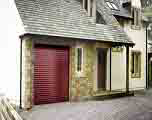 Seceuroglide Insulated Roller Garage Door in Burgundy