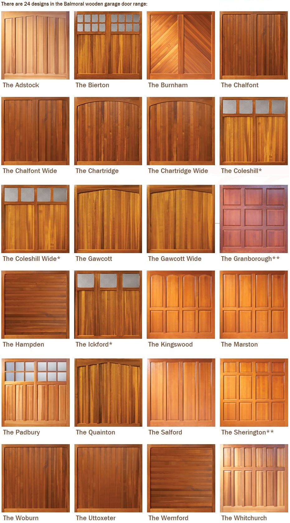 Woodrite Balmoral Up Amp Over Wooden Garage Doors