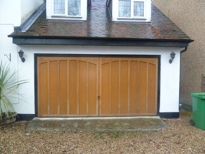 Replacing Wooden Garage Doors In Surrey Case Study By Roller Doors Ltd