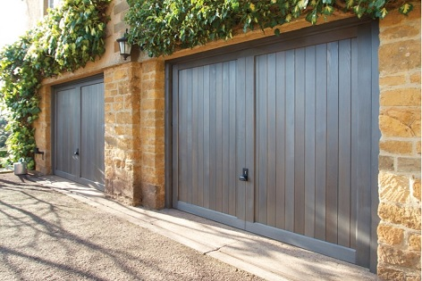 Traditional Timber Garage Doors Installed Into A Large Domestic Property