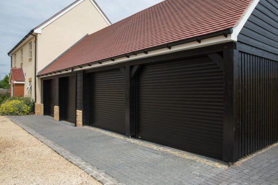 Seceuroglide Garage Door With Windows In Gloucester Case Study By
